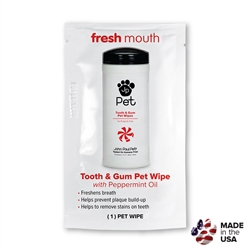 Tooth & Gum Pet Wipe - Foilpack - Fresh Mouth