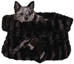 Lightweight Reversible Snuggle Bugs - Black/Black Wavy Velvet