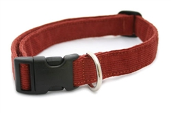 Hemp Corduroy Collar, Leashes, Harnesses RUST