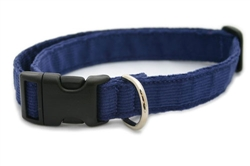 Hemp Corduroy Collar, Leashes, Harnesses BLUE