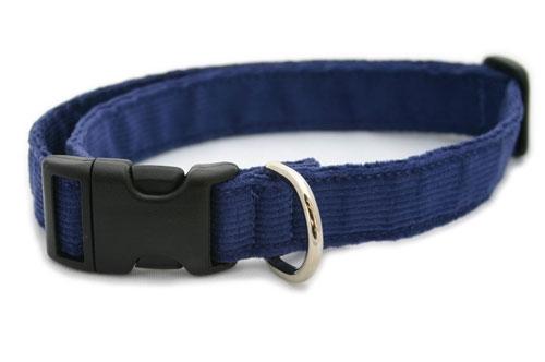 Hemp Corduroy Collar, Leashes, Harnesses BLUE