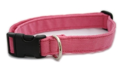 Baby Pink Hemp Corduroy  Leashes, Collars, and Harnesses