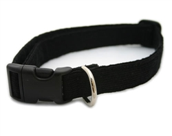 Black Hemp Corduroy Collars, Leashes, and Harnesses