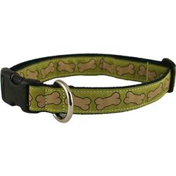Hemp Collars, Leashes Bones Pistachio