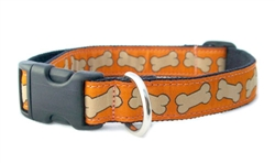 Hemp Collars, Leashes Bones Orange