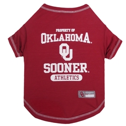 Oklahoma Sooners Dog Tee Shirt
