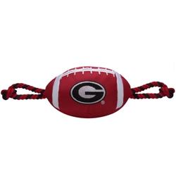 Georgia Bulldogs Nylon Football Dog Toy