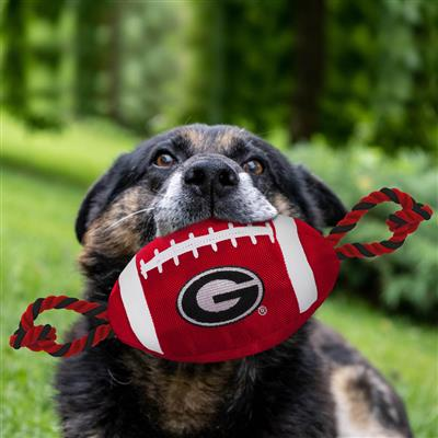 Georgia Bulldogs Nylon Football Dog Toy
