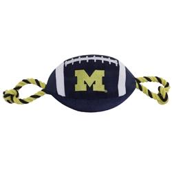 Michigan Wolverines Nylon Football Dog Toy