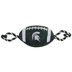 Michigan State Spartans Nylon Football Dog Toy
