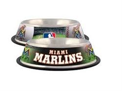 Miami Marlins Dog Bowl