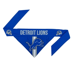 NFL Detroit Lions Dog Bandana - Tie On