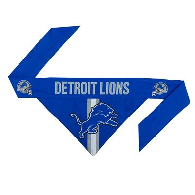 NFL Detroit Lions Dog Bandana - Tie On