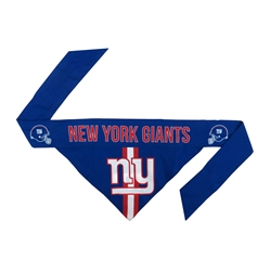 NFL New York Giants Dog Bandana - TIE ON