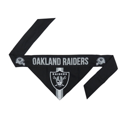 NFL Oakland Raiders Dog Bandana - TIE ON