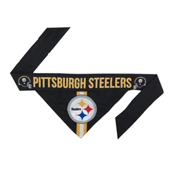NFL Pittsburgh Steelers Dog Bandana - TIE ON