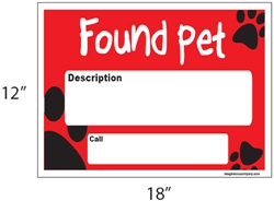 """Found Pet"" Sign"
