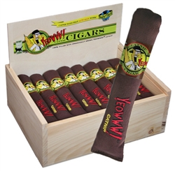 24 Yeowww! Cigars with Birch Wood Display Box