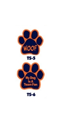 Blue and Orange Team Spirit Magnets