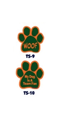 Green and Orange Team Spirit Magnets