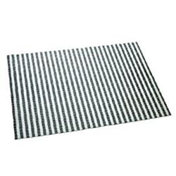 Medium Litter Mat - Black & White Stripe