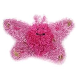 Butterfly HANDMADE Plush Dog Toy - Squeaker dog toy, Squeaky dog toy, knitted toy, Gift for dogs, Durable Dog Toys