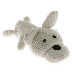 Bulldog (Handmade) Plush Dog Toy - Squeaker dog toy, Squeaky dog toy, knitted toy, Gift for dogs, Durable Dog Toys