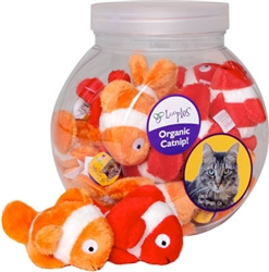 Bowl of Fish Catnip Toys