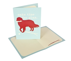 Make time for play - Greeting Card - 6 pack
