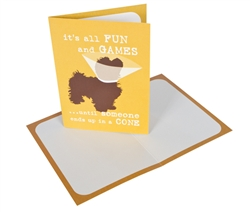 It's all fun and games - Greeting Card - 6 pack