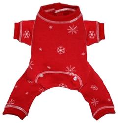 Red Snowflake Long Johns