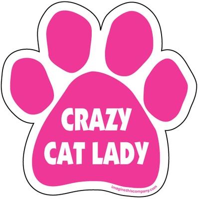 Crazy Cat Lady Paw Magnet