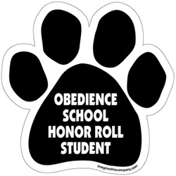 Obedience School Honor Role Student Paw Magnet