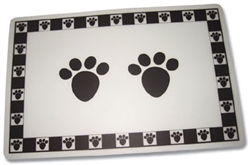 "Black Pet Paws Placemat - 11.75"" x 19""W"