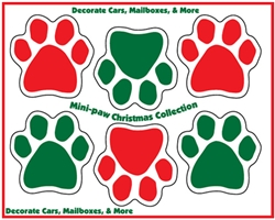 Mini Paw Christmas Collection Magnets