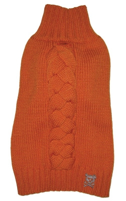 Cool Cable Sweater - Orange