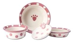 Pink Polka Paws Bowls
