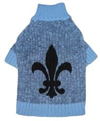 Fleur de Lys Sweater - Blue