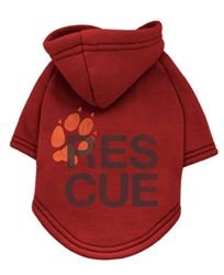 Rescue Charity Hoodie Red