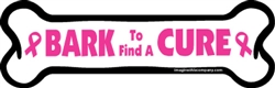 Bark To Find a Cure Bone Magnet