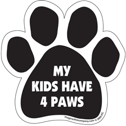 My Kids Have 4 Paws Paw Magnets