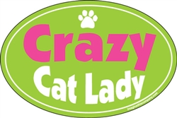 Crazy Cat Lady Oval