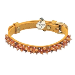 Mini Beads Collar - Yellow/Carnelian