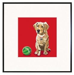 Framed Print: Golden R. Puppy print