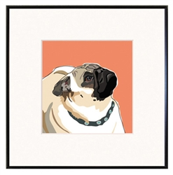 Framed Print: Pug Profile