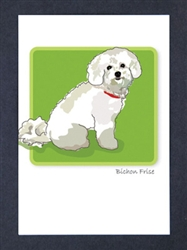 Bichon #2 - Grrreen Boxed Note Cards