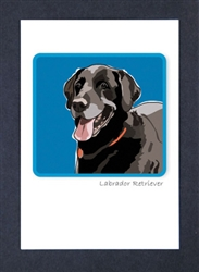 Lab Smiling, Black - Grrreen Boxed Note Cards