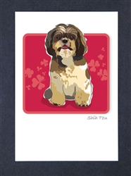 Shih Tzu Sitting - Grrreen Boxed Note Cards