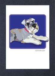 Schnauzer, Floppy Ears #2 - Grrreen Boxed Note Cards