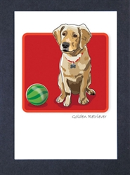 Golden R. Puppy - Grrreen Boxed Note Cards